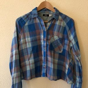Urban Outfitters BDG Cropped Plaid Button-down S